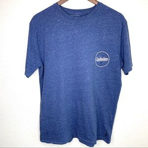 Quicksilver blue men's large tee euc